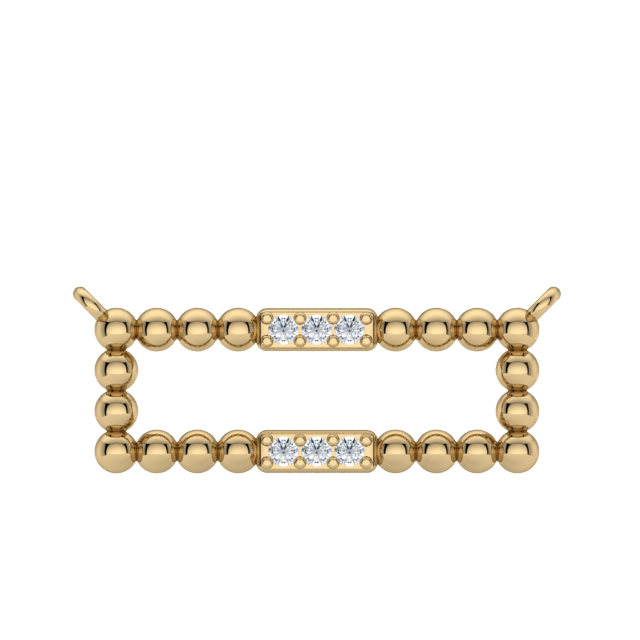 Gold Diamond Ball Necklace