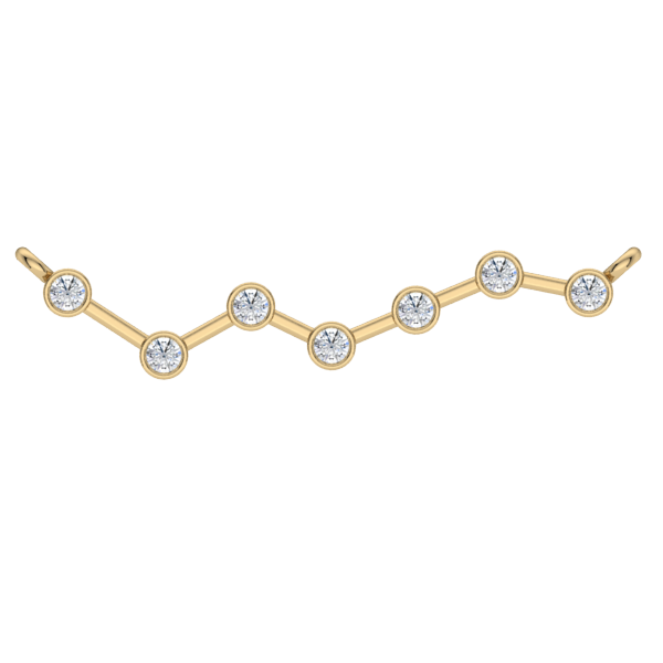 Gold Diamond Zig Zag Necklace