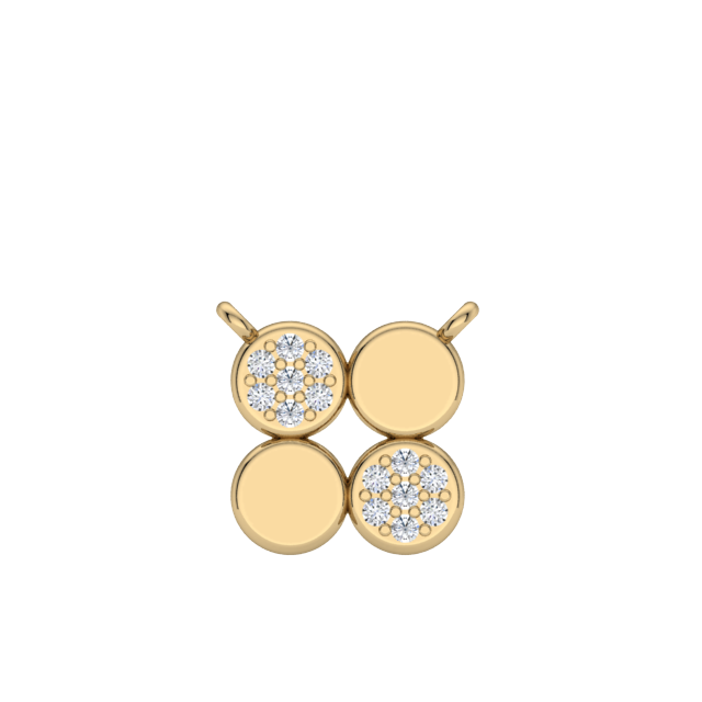 Gold Diamond Circle Necklace