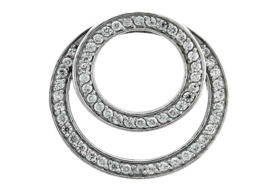 Gold Diamond .60 CTW Circle Pendant