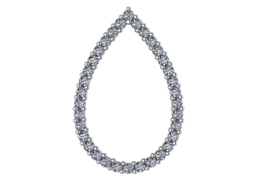 Gold Diamond .55 CTW Fashion Pendant