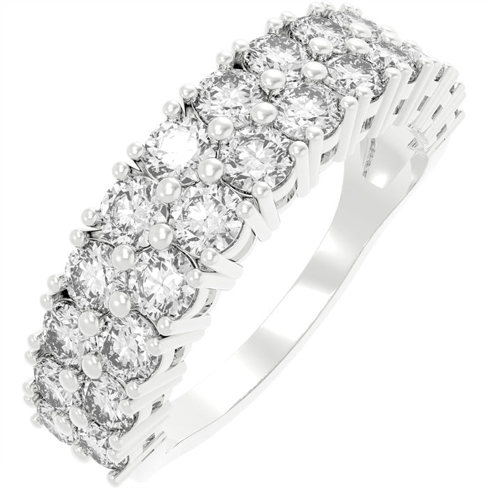 CZ Sterling Double Band