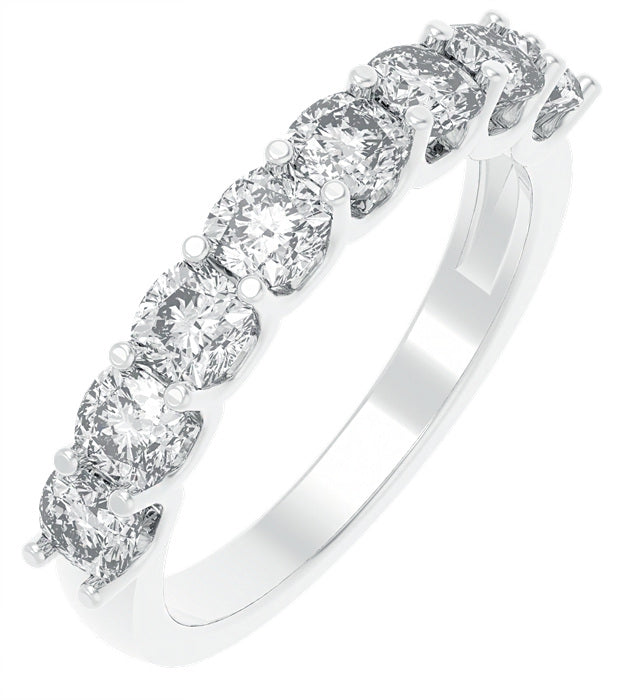 CZ Sterling Silver Half Eternity Band
