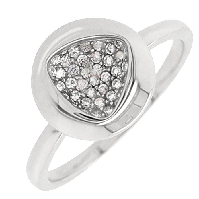 CZ Sterling Silver Cluster Ring