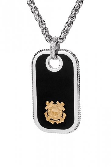 Coast Guard Dog Tags - Gold