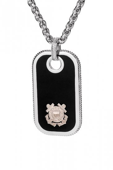 Coast Guard Dog Tags - Silver