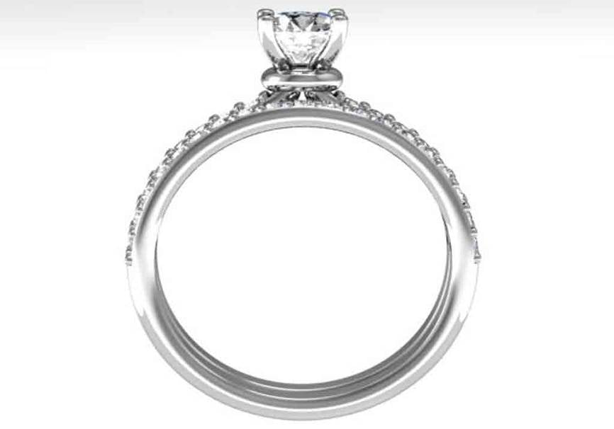 Gold Diamond .45 CTW Engagement Set Mounting