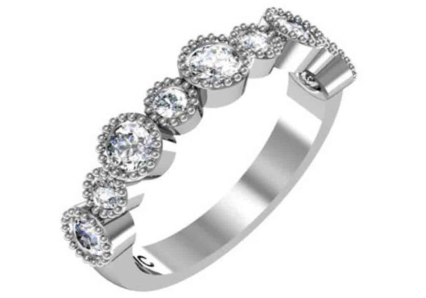 Gold Diamond Designer Wedding Band