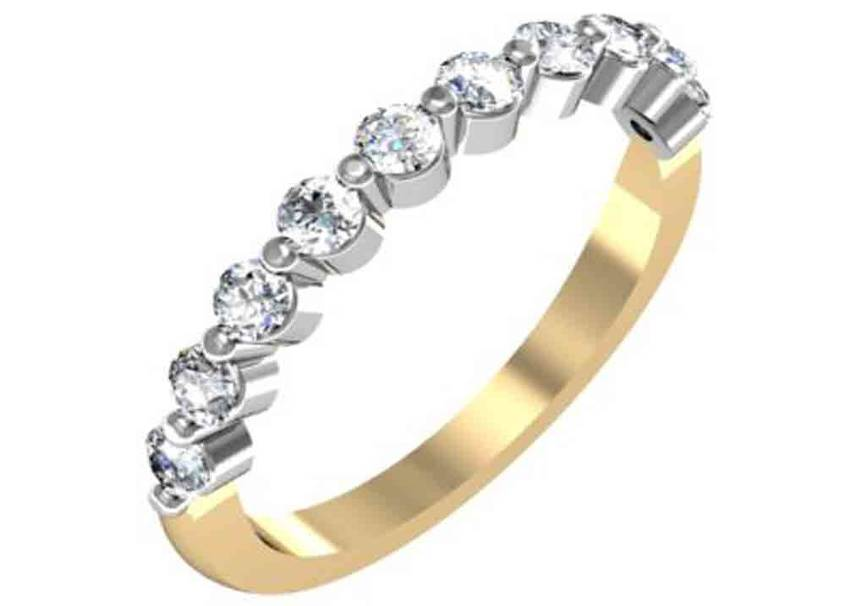 Gold and Diamond Designer Wedding Band