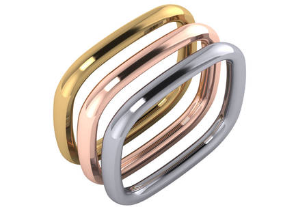 Gold Designer Stack Ring