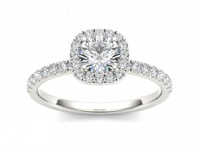 Gold Diamond .50 CTW Vintage Style Engagement Mounting