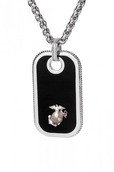 Marine Dog Tags - Silver
