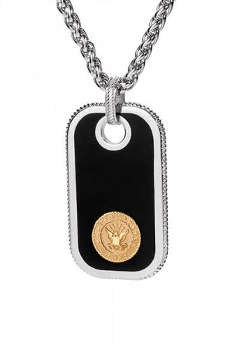 Navy Dog Tags - Gold