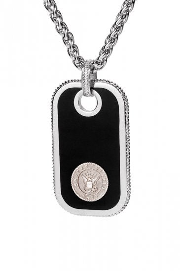 Navy Dog Tags - Silver