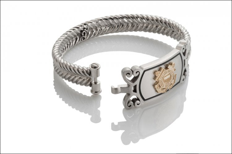 Women's Coast Guard Bracelet - Gold Emblem