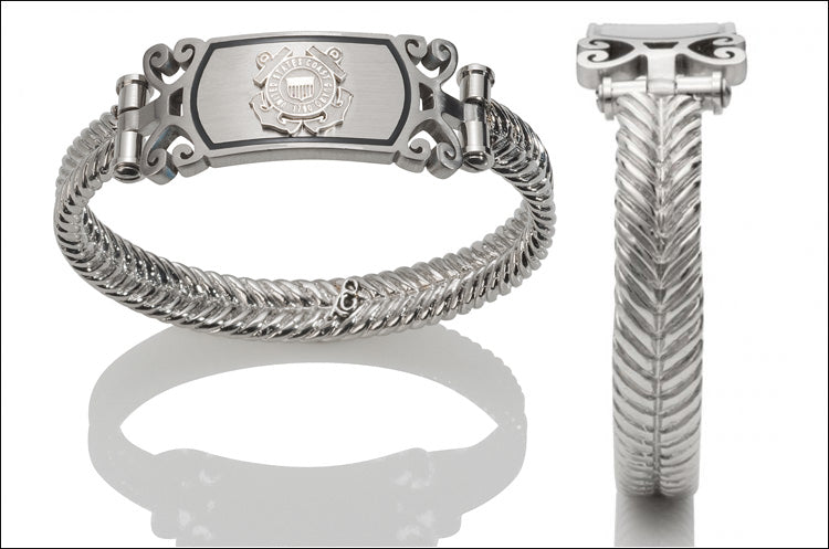 Women's Coast Guard Bracelet - Silver Emblem