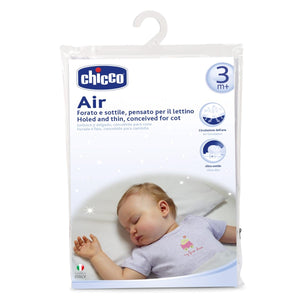 Baby equipment rental in Lisbon, Portugal. Chicco bed pillow for relaxing nights just like home.