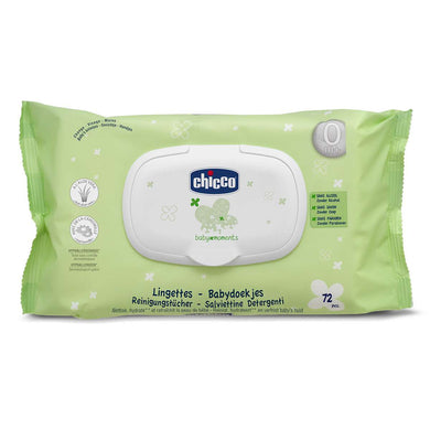 Baby equipment rental in Lisbon, Portugal. Chicco cleansing wipes for the best care of your baby.
