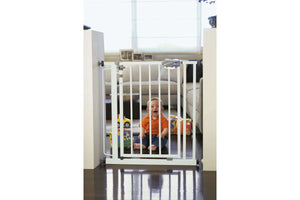 Baby equipment rental in Lisbon, Portugal. Chicco door gate extension for maximum security of your baby.