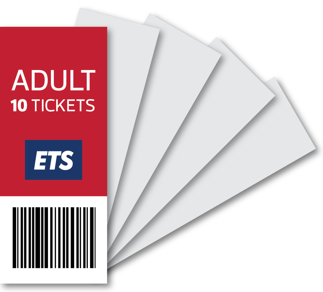 ETS Adult Ticket 10 Strip