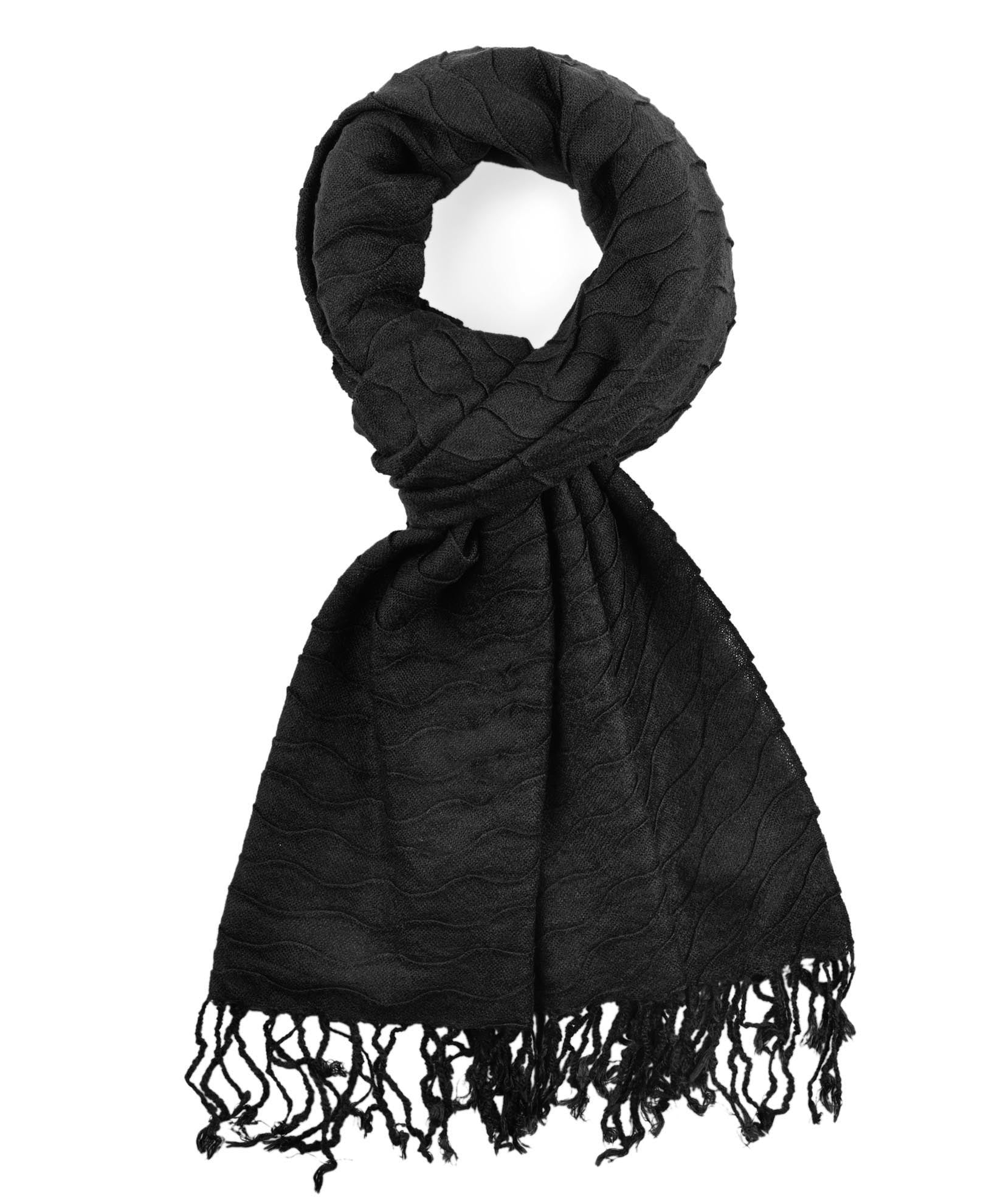 Black - Soft Woven Pineapple Pleat