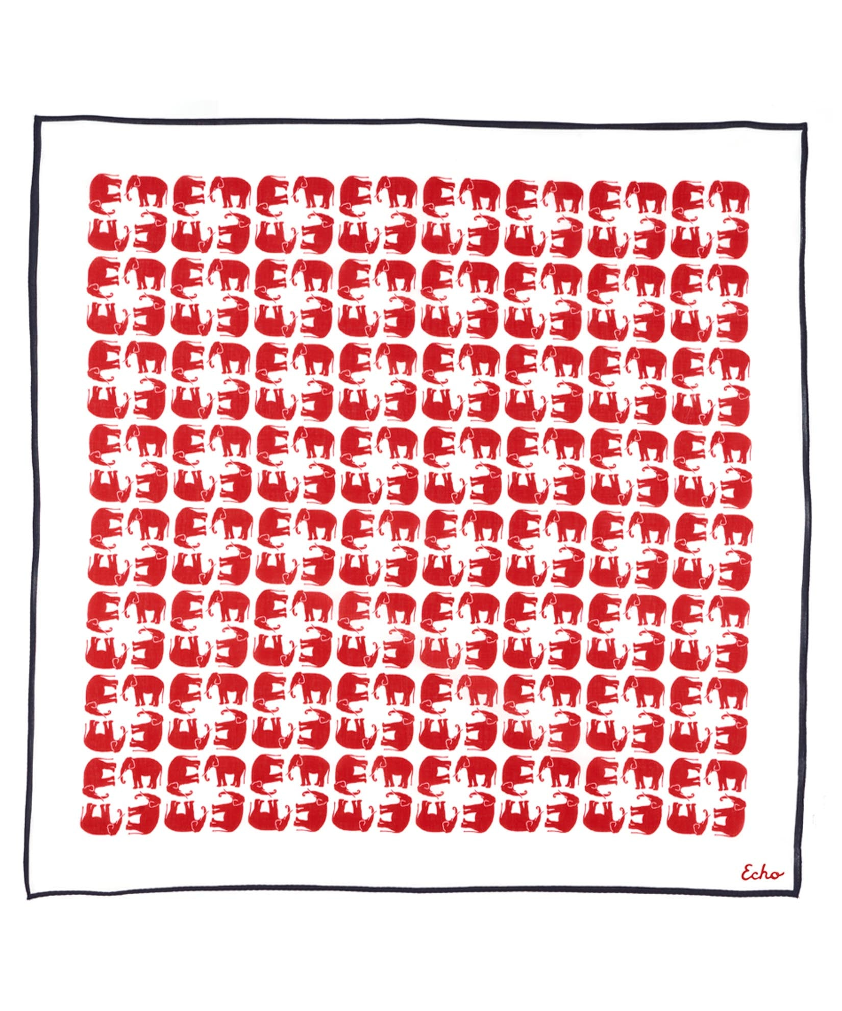 Red/Elephant - Political Party Silk Square