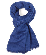 Brilliant Blue - Pleated Milk Blanket Wrap