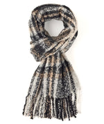 Black - Lofty Plaid Woven Wrap