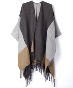 Gunmetal - Colorblock Reversible Ruana