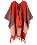 Sienna - Colorblock Reversible Ruana