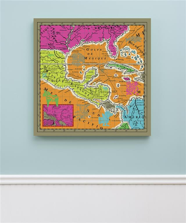 Brights - Mexico Map Canvas