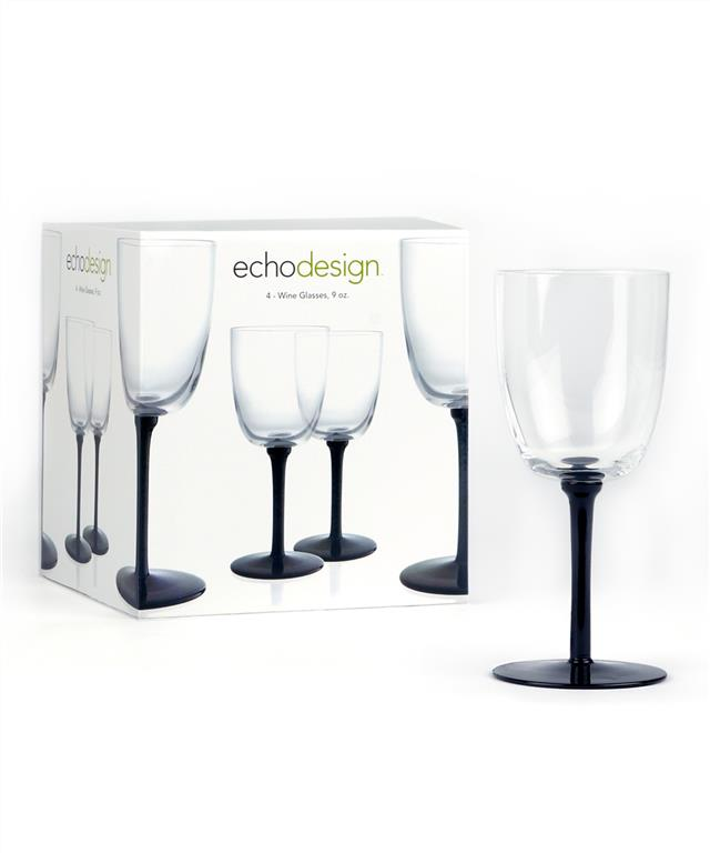 Lacquer Glass Wine Glass 4 Pk - Lacquer Glass Wine Glass 4 Pk
