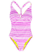 Bright Orchid - Geo Cross Back One Piece