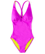 Bright Orchid - Solid Cross Back One Piece