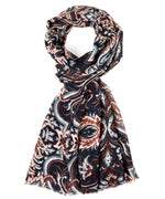 Black - Romantic Paisley Wrap