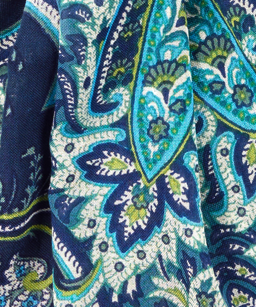 Forest Dusk - Romantic Paisley Wrap