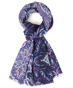 Dusty Prune - Romantic Paisley Wrap