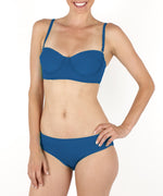 Deep Blue Sea - Solid Ruched Bottom
