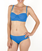 Dazzling Blue - Solid Ruched Bottom