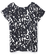 Black - Abstract Cutouts Basic T-Shirt