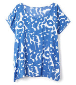 Deep Blue Sea - Abstract Cutouts Basic T-Shirt