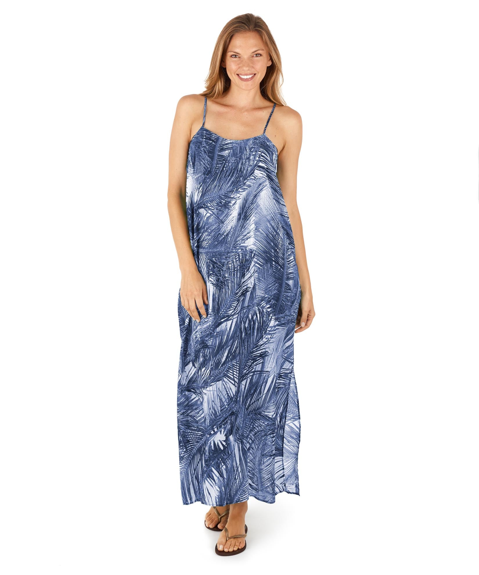 Dazzling Blue - Paradise Palm Becki Maxi Dress