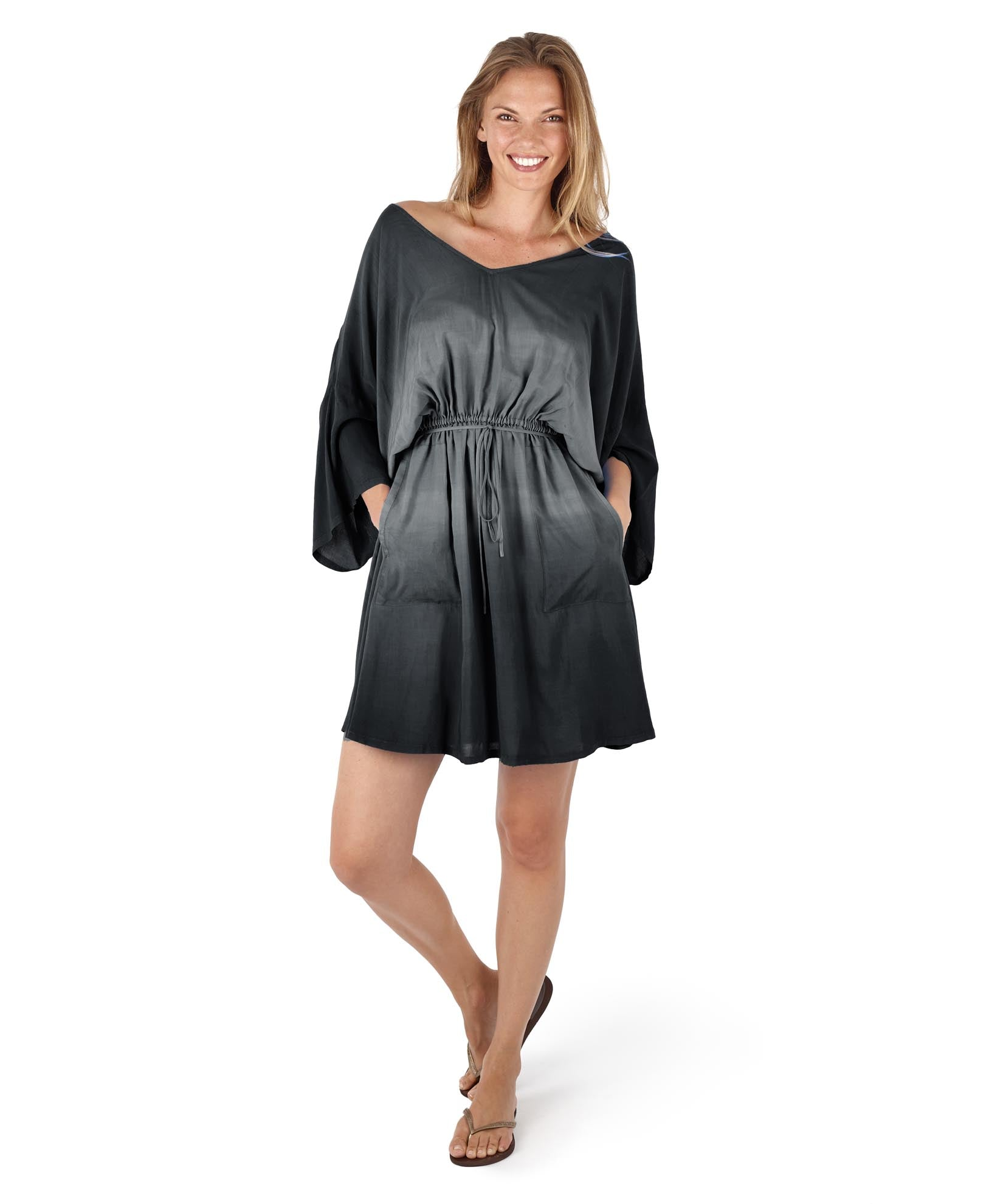 Black - Horizon Ombre Elena Dress
