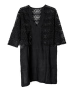 Black - Lace Inset Dorothy Tunic