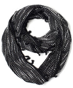 Black - Abstract Geo Woven Loop