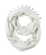 White - Abstract Geo Woven Loop