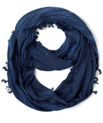 Navy - Abstract Geo Woven Loop