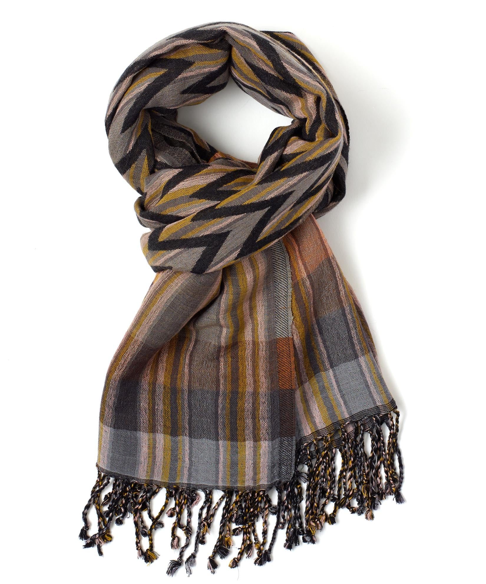 Gunmetal - Ziggy Stripe Wrap
