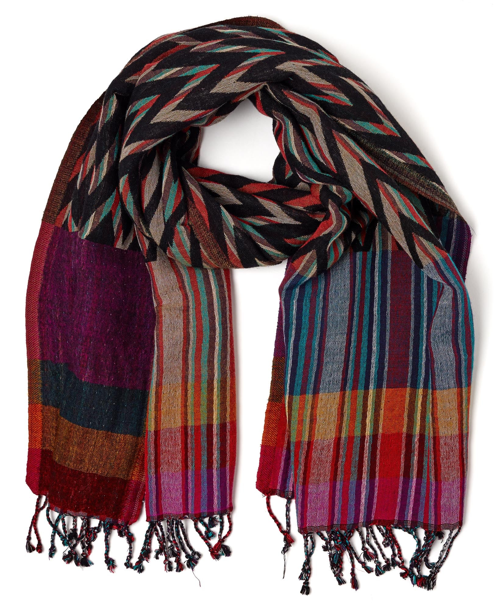 Multi - Ziggy Stripe Wrap