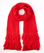 Painter Red - Solid Fringy Muffler